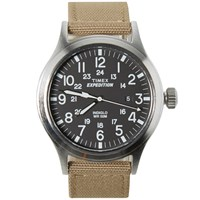 Timex Expedition Scout Watch Black And Tan