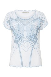 Sugarhill Boutique Butterfly Cutwork Top White