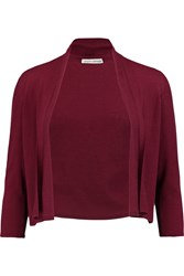 Autumn Cashmere Cropped Cashmere Cardigan Purple