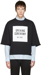 Opening Ceremony Black Logo Cut Off T Shirt