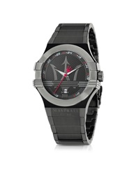 Maserati Potenza Black Pvd Stainless Steel Unisex Watch