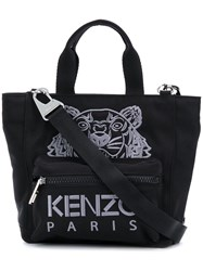 Kenzo Small Tiger Embroidered Tote Black