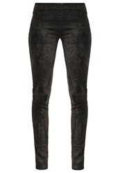 Oakwood Leather Trousers Anthracite