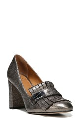 Sarto By Franco Sarto Women's 'Ainsley' Loafer Pump Gunmetal Leather