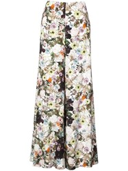 Adam By Adam Lippes Floral Print Wide Leg Trousers White
