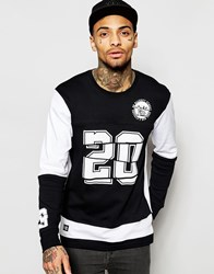 New Era Long Sleeve T Shirt With Team Number Black