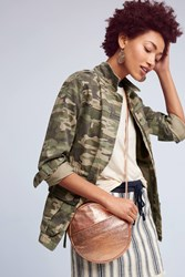 Anthropologie Alisha Camo Anorak Green Motif