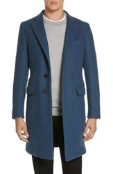 Eidos Napoli Wool And Cashmere Car Coat Cobalt