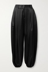 Nili Lotan Lisbon Silk Charmeuse Pants Black
