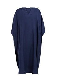 Denis Colomb Draped Silk Kaftan Navy
