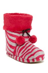 Age Group Ltd Zebra Pom Pom Boot