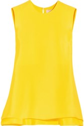 Roksanda Ilincic Fuji Silk Top Bright Yellow