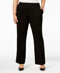 Calvin Klein Plus Size Wide Leg Dress Pants Black
