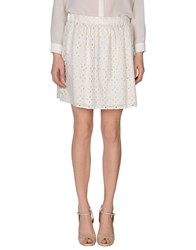 Atelier Fixdesign Skirts Mini Skirts Women White