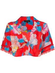 A Peace Treaty Talla Floral Print Tie Shirt Red