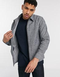 River Island Overshirt In Mid Gray
