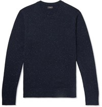 Club Monaco Donegal Cashmere Sweater Navy