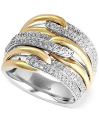 Effy Collection Duo By Effy Diamond Two Tone Ring 5 8 Ct. T.W. In 14K Gold