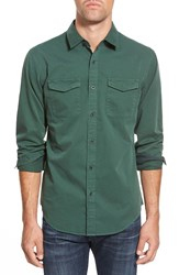 Eddie Bauer 'Stonebridge Ilaria Urbinati Collection' Trim Fit Military Sport Shirt Dark Pine