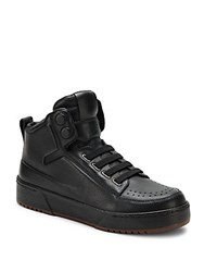 3.1 Phillip Lim Leather High Top Sneakers Black