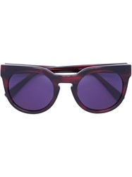 Derek Lam 'Stella' Sunglasses Red