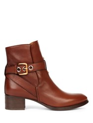 Chloe Max Boot In Shiny Calf Leather Brown