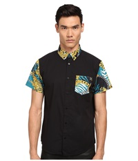 Versace Tiger Chains Print Short Sleeve Button Up