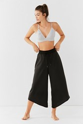 Out From Under Slant Cropped Wide Leg Pant Black
