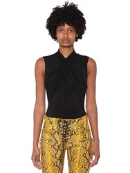 Unravel Wrapped Mesh Top Black