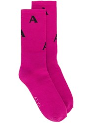 Alyx A Knit Socks Pink And Purple