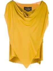 Vivienne Westwood Anglomania Frayed Pointy Blouse Yellow Orange