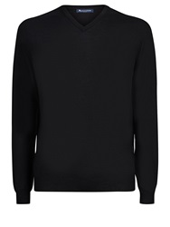 Aquascutum London Crowe Vee Knit Black