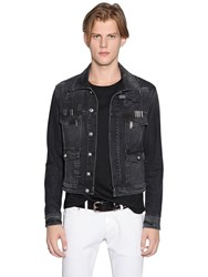 Versus Stapled Cotton Denim Jacket