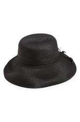 Women's August Hat 'Pack This Hat' Woven Sun Hat Black
