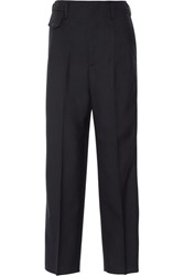 Golden Goose Deluxe Brand Erin Striped Wool Wide Leg Pants Midnight Blue