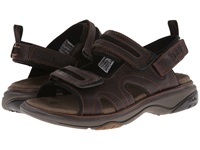Clarks Hudson Brown Oily Leather Men's Sandals