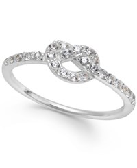 B. Brilliant Giani Bernini Cubic Zirconia Knot Ring In 18K Gold Over Sterling Silver 1 4 Ct. T.W.
