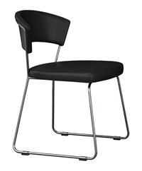 Modloft Delancy Dining Chair Set Of 2 Black Leather 99 Room Of Choice Delivery Package Removal