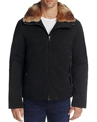 Billy Reid Kurt Rabbit Fur Jacket Black