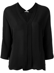 Egrey V Neck Blouse Black