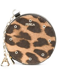 Furla 'Babylon' Coin Purse Keyring Black