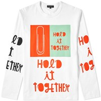 Comme Des Garcons Homme Plus Long Sleeve Hold It Together Tee White
