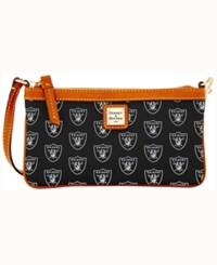 Dooney And Bourke Oakland Raiders Large Wristlet Black