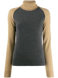 Givenchy Contrasting Sleeve Jumper Grey