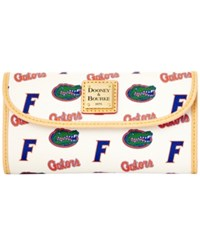 Dooney And Bourke Florida Gators Large Continental Clutch White