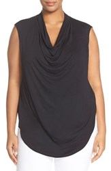 Halogenr Plus Size Women's Halogen Drape Neck Sleeveless Top