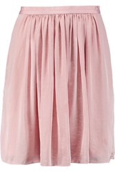 Needle And Thread Pandora Pleated Satin Mini Skirt Baby Pink
