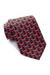 Tailorbyrd Ping Pong Silk Tie Black