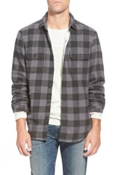 Wallin And Bros Thermal Lined Trim Fit Flannel Shirt Gray