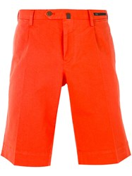 Pt01 Classic Chino Shorts Men Cotton Spandex Elastane 50 Yellow Orange